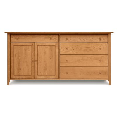Sarah 4 Drawers on Right Sideboard Finish: Cognac Cherry