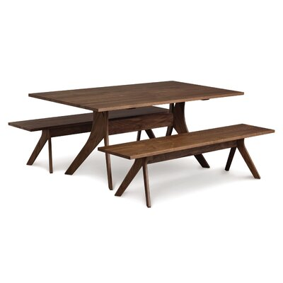 Audrey Dining Table Finish: Natural Walnut, Size: 30 H x 40 W x 72 D