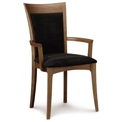 Morgan Genuine Leather Upholstered Dining Chair Upholstery Color: White, Leg Color: Natural Walnut