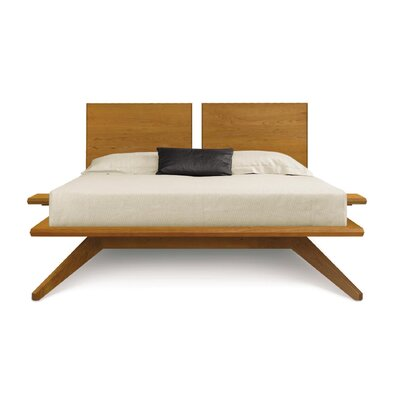 Astrid Platform Bed Size: King, Color: Natural Cherry