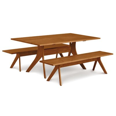 Audrey Dining Table Table Finish: Cognac Cherry, Table Size: 30 H x 40 W x 72 D