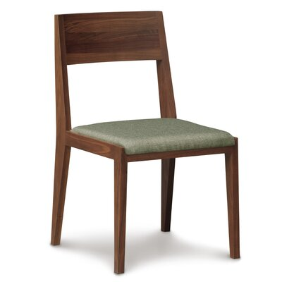 Kyoto Upholstered Dining Chair Color: Microseude Coffee