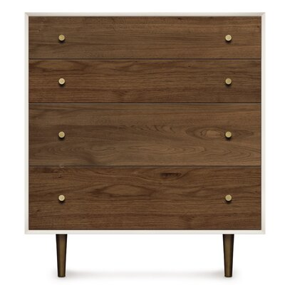 Mimo 4 Drawer Chest Leg Color: Nickel