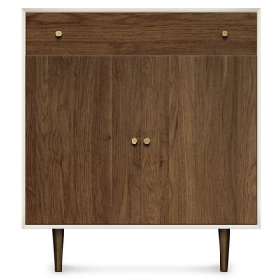 Mimo 1 Drawer and 2 Door Dresser Leg Color: Nickel