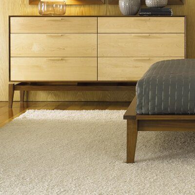 Soho 6 Drawer Double Dresser Color: Maple Case / Walnut Drawers