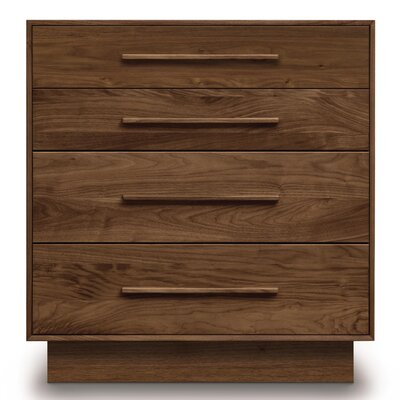 Moduluxe 4 Drawer Dresser Color: Smoke Cherry