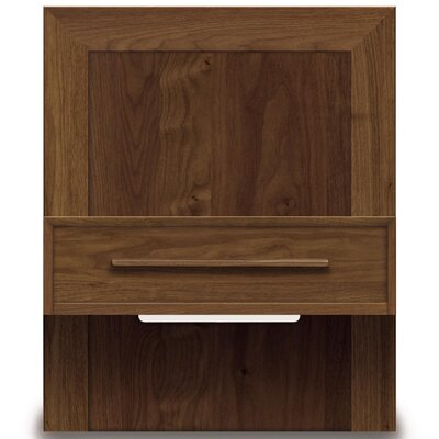 Moduluxe 1 Drawer Nightstand Color: Natural Walnut