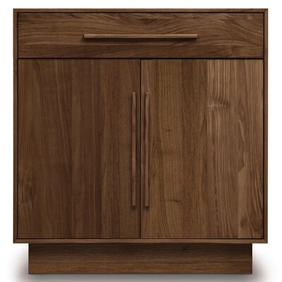 Moduluxe 1 Drawer Dresser Color: Parchment Maple