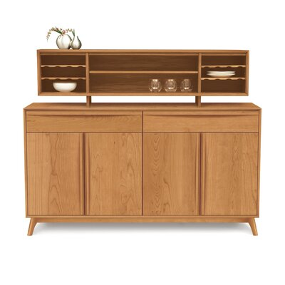 Catalina Hutch Color: Saddle Cherry
