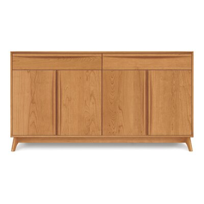 Catalina 4 Door and 2 Drawer Sideboard Color: Cognac Cherry