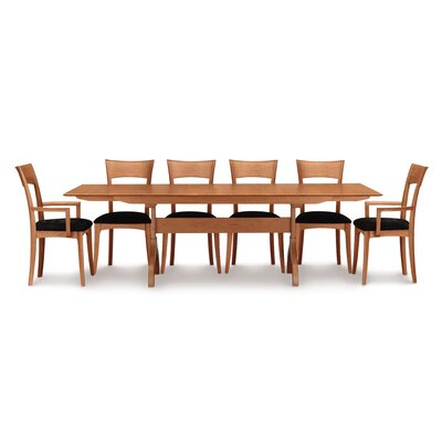 Sarah Extendable Dining Table Color: Natural Cherry, Size: 30 H x 66 W x 42 D