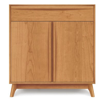 Catalina 1 Drawer Server Finish: Cognac Cherry