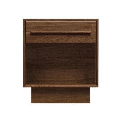 Moduluxe 1 Drawer Nightstand Finish: Dark Chocolate Maple