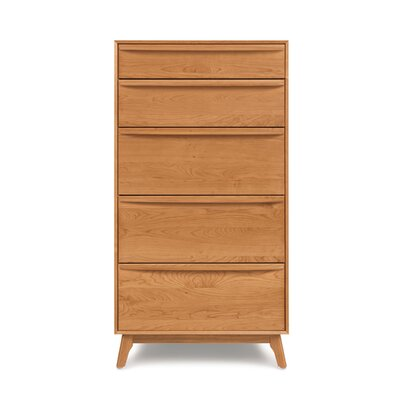 Catalina 5 Drawer Chest Color: Natural Cherry
