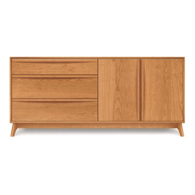 Catalina 3 Drawer Dresser Color: Cherry, Orientation of Drawers: Right
