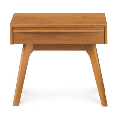 Catalina 1 Drawer Nightstand Color: Cherry, Size: 20