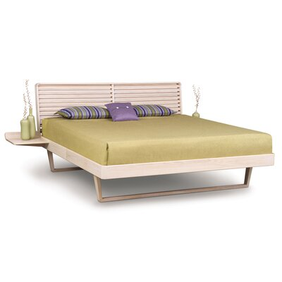 Contour Platform Bed Finish: Seared Ash, Size: Queen