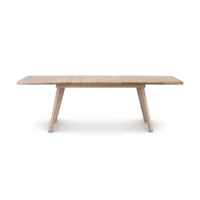Axis Easystow Extension Dining Table Color: Weathered Ash, Size: 36 H x 72 W x 55 D