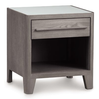 Surround 1 Drawer Nightstand Color: Soaped Ash, Top Material: Wood