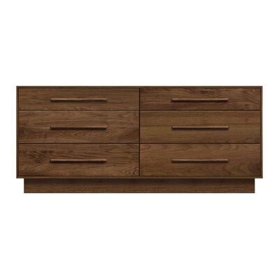 Moduluxe 6 Drawer Double Dresser Color: Parchment Maple