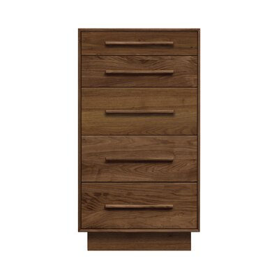Moduluxe 5 Drawer Chest Color: Cognac Cherry