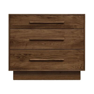 Moduluxe 3 Drawer Dresser Color: Smoke Cherry