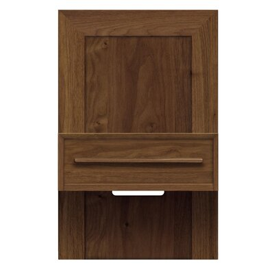 Moduluxe 1 Drawer Nightstand Color: Slate Maple, Size: 35 H x 18.5 W x 18 D