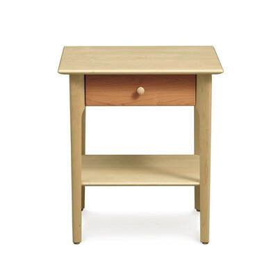 Sarah 1 Drawer Nightstand Color: Parchment Maple, Height: 24
