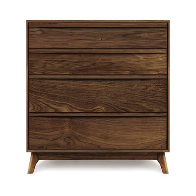Catalina 4 Drawer Chest Finish: Natural Walnut