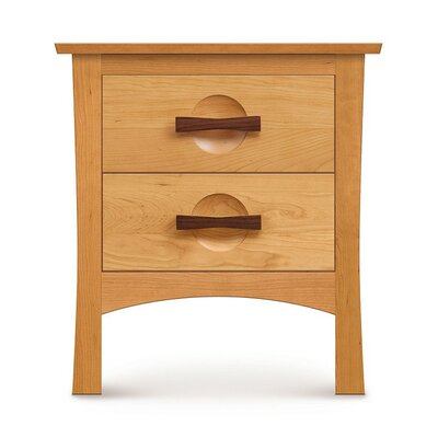 Berkeley 2 Drawer Nightstand Color: Smoke Cherry