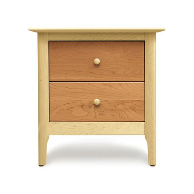 Sarah 2 Drawer Nightstand Height: 24, Finish: Maple and Cherry
