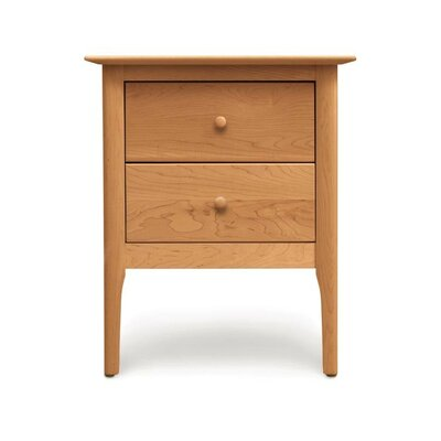 Sarah 2 Drawer Nightstand Finish: Natural Cherry, Height: 28