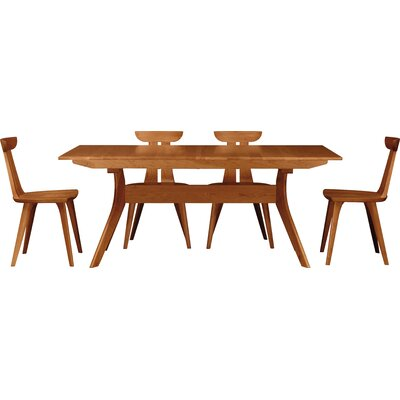 Audrey Extendable Dining Table Color: Cognac Cherry, Size: 30 H x 42 W x 72 D