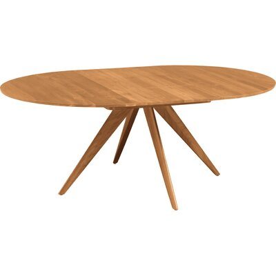 Catalina Extendable Dining Table Size: 30 H x 60 W x 60 D, Finish: Natural Walnut