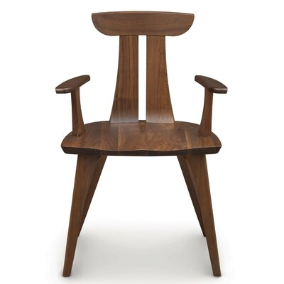 Estelle Arm Chair Finish: Natural Walnut