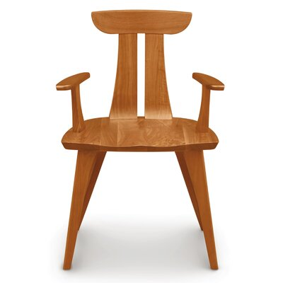 Estelle Solid Wood Dining Chair Color: Seared Ash