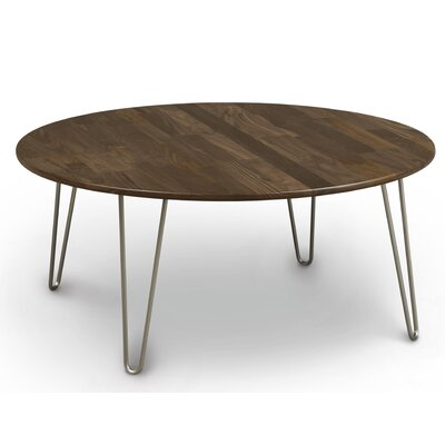 Essentials Coffee Table Top Color: Natural Cherry, Leg Material: Metal