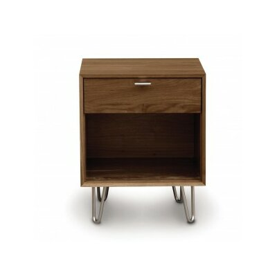 Canto 1 Drawer Nightstand Finish: Natural Walnut