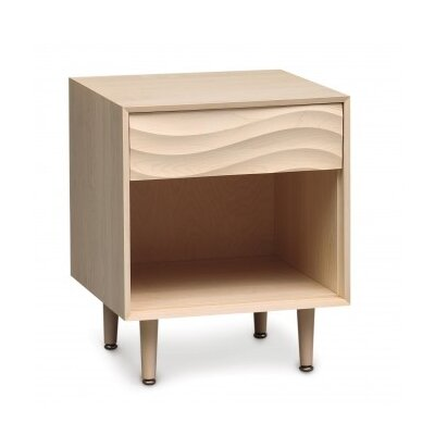 Wave 1 Drawer Nightstand Color: Natural Maple, Frame Material: Wood