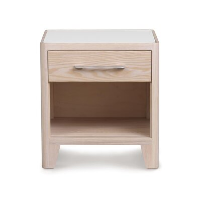 Contour 1 Drawer Nightstand Finish: Soaped Ash, Base Material: Solid Ashwood, Top Material: Wood