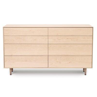 Canvas 8 Drawer Dresser Finish: Natural Maple, Drawer Handle Design: No Knob, Leg Material: Wood