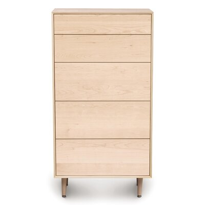 Canvas 5 Drawer Chest Color: Natural Maple, Drawer Handle Design: Push, Leg Material: Wood