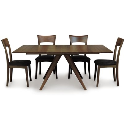 Catalina Extendable Dining Table Color: Saddle Cherry