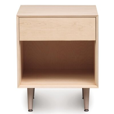 Canvas 1 Drawer Nightstand Finish: Natural Maple, Drawer Handle Design: Push, Leg Material: Wood