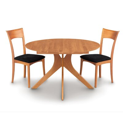 Audrey Extendable Dining Table Color: Cognac Cherry
