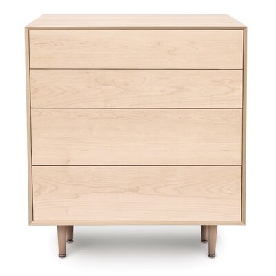 Canvas 4 Drawer Chest Color: Natural Maple, Drawer Handle Design: Push, Leg Material: Wood