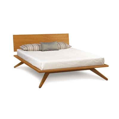 Astrid Platform Bed Color: Natural Cherry, Size: California King