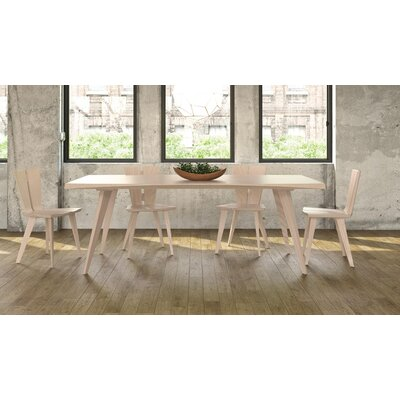 Axis Dining Table Color: Taupe Ash, Size: 32 H x 42 W x 74 D