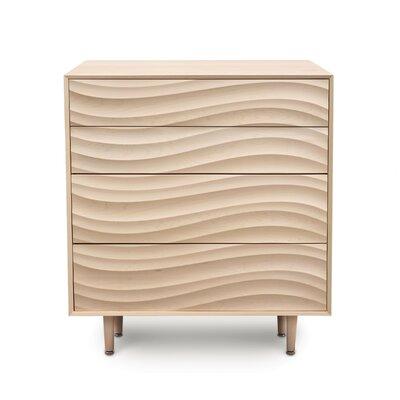 Wave 4 Drawer Chest Color: Parchment Maple, Leg Material: Wood