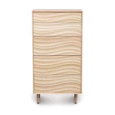Wave 5 Drawer Chest Color: Parchment Maple, Leg Material: Wood